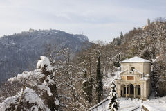 Chapel of sacro monte, varese Royalty Free Stock Images
