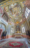 Chapel of Saint Anton palace with the frescoes by Anton Schmidt from years 1750 - 1752. Royalty Free Stock Photo