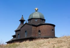 Chapel of Saint Cyril and Methodius, Radhost hill, Beskids mountains, Czech republic / Czechia. Beautiful historic religious building. Sunny weather royalty free stock images