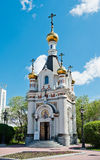 The chapel of Saint Great Martyr Ekaterina, Yekaterinburg, Russi Royalty Free Stock Photos