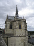 CHAPEL OF SAINT-HUBERT. In the castle of Amboise Royalty Free Stock Photo