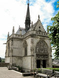 Chapel of Saint-Hubert. The chapel of Saint-Hubert in the Chateau d'Amboise garden (Amboise, France), where Leonardo da Vinci is buried Royalty Free Stock Photography