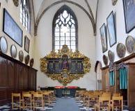 Chapel in Saint-Martin's Church of Courtrai. COURTRAI, BELGIUM-FEBRUARY 22, 2014: Chapel in Saint-Martin's Church of Courtrai or Kortrijk. The church was built Stock Image