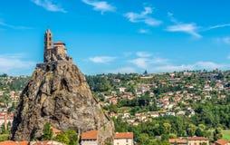 Chapel Saint Michel d Aiguilhe near Le Puy en Velay in France Royalty Free Stock Images