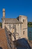 Chapel of Saint-Nicolas on Saint-Benezet bridge. Avignon, France Stock Photos