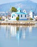 Saint Nikolaos chapel at Nea Artaki Euboea Greece - the protector of the sailors Stock Images