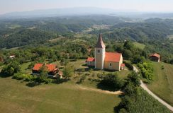 Chapel of Saint Vitus in Komor Zacretski, Croatia royalty free stock images