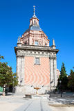Chapel  San Isidro on San Andres plaza in Madrid Stock Photography