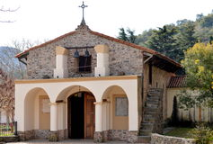 Chapel of San Roque - La Cumbre (Córdoba). It is the oldest and most representative chapel of La Cumbre. It could testify in the sacramental books you Stock Images