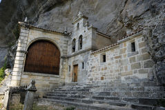 Chapel of San Tirso and San Bernab� in Ojo Guare�a, Merindades, Royalty Free Stock Image