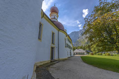 Chapel of Sankt Bartholoma, Konigssee Royalty Free Stock Image