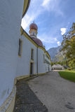 Chapel of Sankt Bartholoma, Konigssee Royalty Free Stock Photos