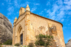 Chapel of Sant Joan in Montserrat mountains Royalty Free Stock Images