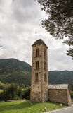 The chapel of Sant Miquel de Engolasters, Andorra stock photo