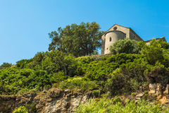 Chapel Santa Catalina on coast of Cap Corse in Corica Stock Image
