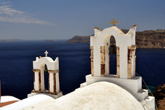 Chapel in Santorini Island Royalty Free Stock Images