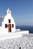 Chapel on Santorini island Royalty Free Stock Image