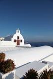 Chapel on Santorini island Stock Photo