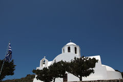Chapel on Santorini island Royalty Free Stock Photos