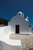 Chapel on Santorini island Stock Photos