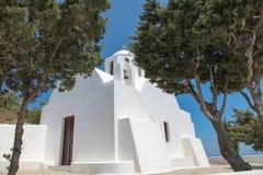 Chapel on Santorini island Stock Images