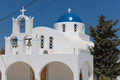 Chapel on Santorini island Stock Image