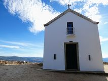 Chapel of Sao Leonardo da Galafura. The landscape from Sao Leonardo da Galafura viewpoint in Douro Valley is one of the most beautiful sights of all the Douro Royalty Free Stock Photo