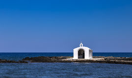 Chapel in the sea Royalty Free Stock Photography