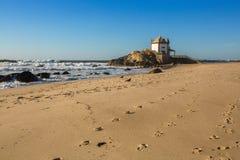 Chapel Senhor da Pedra at Miramar Beach, Portugal. Nature. Royalty Free Stock Photo