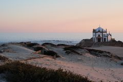 Chapel of Senhor da Pedra. Miramar Granja, Portugal Royalty Free Stock Image