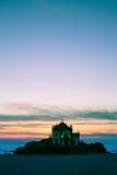 Chapel Senhor da Pedra at night time, Miramar Beach Royalty Free Stock Photography