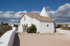 CHAPEL OF SENHORA DA ROCHA on cloudy day. Chapel of senhora da rocha, in Algarve, Portugal Royalty Free Stock Photography