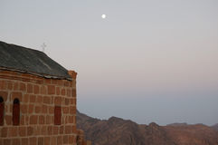 Chapel on Sinai. Chapel on the top of Sinai Mount in Sinai desert, Egypt Royalty Free Stock Images
