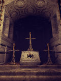 Chapel with skull crosses Royalty Free Stock Image