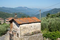San Rocco Chapel. This chapel in the small rural village of Benabbio, Italy, is dedicated to San Rocco, a patron saint of illnesses royalty free stock photography