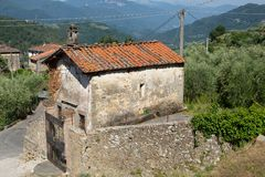 San Rocco Chapel. This chapel in the small rural village of Benabbio, Italy, is dedicated to San Rocco, a patron saint of illnesses royalty free stock image