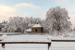 Chapel in snow Royalty Free Stock Image