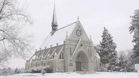 Chapel in Snow Royalty Free Stock Images