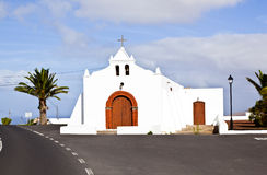 Chapel in Spain, Canary Islands, Lanzarote Royalty Free Stock Photos