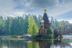 The chapel of St. Andrew on the Vuoksa, Leningradskaya oblast, Russia royalty free stock photos