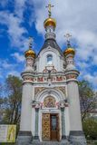 Chapel of St. Catherine at the Labor square in Ekaterinburg 2018.  Royalty Free Stock Photos