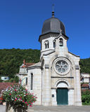Chapel in St.Claude. Exterior view of the Chapel of Carmes in Saint-Claude, in the Jura region of France Royalty Free Stock Images