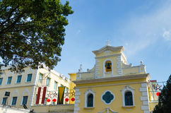 Chapel of st. francis xavier in macau china. Chapel of st. francis xavier in coloane island macau china Stock Photos