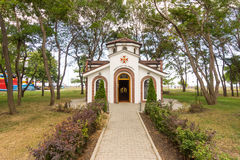 Chapel of St. George in the seaside park of Burgas, Bulgaria Stock Image