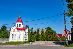 Chapel of St. George the Victorious in the Russian city of Myshkin. MYSHKIN, RUSSIA - JUNE 18, 2017: The facade of the Chapel of St. George the Victorious Stock Image