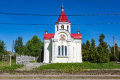 Chapel of St. George the Victorious in the Russian city of Myshkin. MYSHKIN, RUSSIA - JUNE 18, 2017: The facade of the Chapel of St. George the Victorious Stock Photos