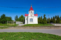 Chapel of St. George the Victorious in the Russian city of Myshkin. MYSHKIN, RUSSIA - JUNE 18, 2017: The facade of the Chapel of St. George the Victorious Royalty Free Stock Photos
