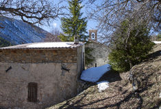 Chapel st jean du desert, france. A place of pilgrimage, department of Alps of high Provence, France Stock Image