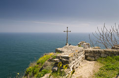 Chapel of St. Nicholas. At Cape Kaliakra in Bulgaria Royalty Free Stock Photography