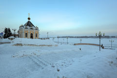 Chapel St. Nicholas Wonderworker, Rybinsk, Russia Stock Images